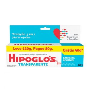 Creme Preventivo de Assaduras Hipoglós Transparente Leve 120g Pague 80g