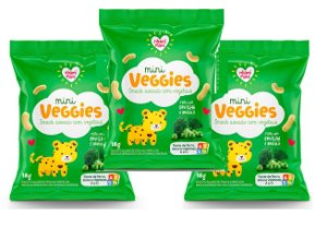 Leve mais por Menos ( Kit 3 Unidades) - Snacks Mini Veggies Snack Ervilha e Brócolis 18g