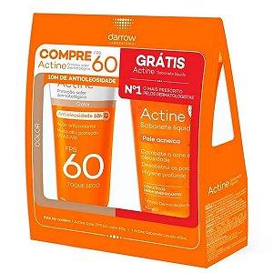 Actine Protetor Solar FPS60 Color 40g + Sabonete Liquido 60ml