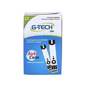 Tiras para Medição de Glicose para Aparelho Lite G-Tech c/ 25 unidades