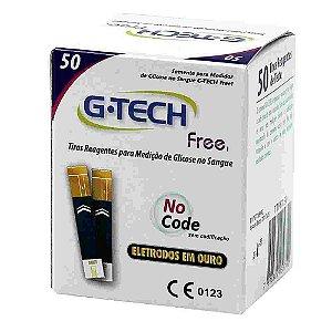 Tiras para Medição de Glicose para Aparelho Free G-Tech c/ 50 unidades