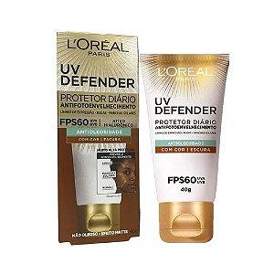 Protetor Solar L'Oréal UV Defender Escura FPS60 40g