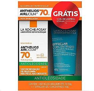 Protetor Solar Facial La-roche Posay Anthelios Airlicium FPS70 com 50g Grátis Effaclar Gel de Limpeza com 40g