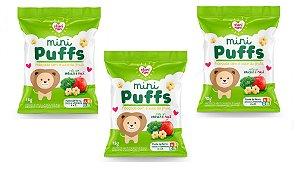 Leve mais por Menos ( Kit 3 Unidades) - Snacks Mini Puffs Snack Brócolis e Maça 15g