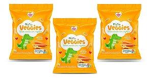 Leve mais por Menos ( Kit 3 Unidades) - Snacks Mini Veggies Snack Grão-de-Bico e Cenoura 18g