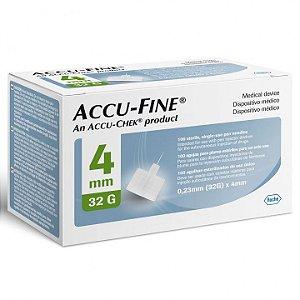 Agulhas Accu-Fine 4mm com 100 Unidades