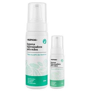 Kit Leve Mais Pague Menos Espuma Higienizadora para Mãos Namoa 200mL + Espuma Higienizadora para Mãos Namoa 50mL