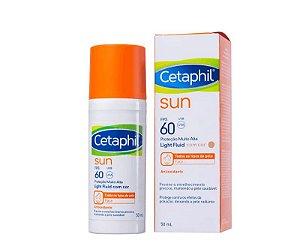 Cetaphil Sun Light Fluid com Cor FPS60 com 50mL