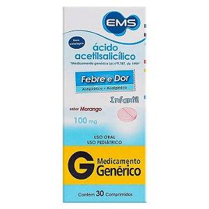 Ácido Acetílsalicílico 100mg 30 Comprimidos EMS Genérico