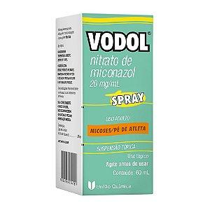 Vodol Nitrato de Miconazol 20mg/mL 60mL Spray União Química