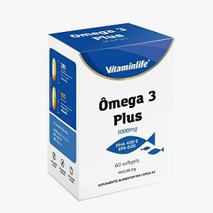 Ômega 3 Plus 1000mg Vitaminlife 60 Cápsulas