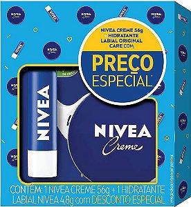 Kit Nivea Creme Hidratante 56g + Hidratante Labial Original