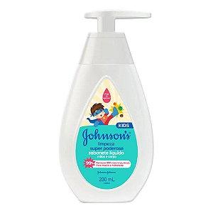 Johnsons Sabonete Líquido Kids Mãos e Corpo 200mL