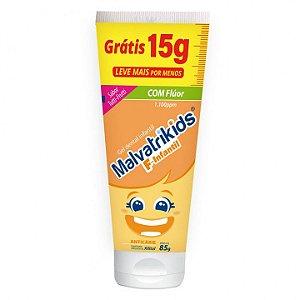 Gel Dental Malvatrikids com Flúor Sabor Tutti-Frutti 85g