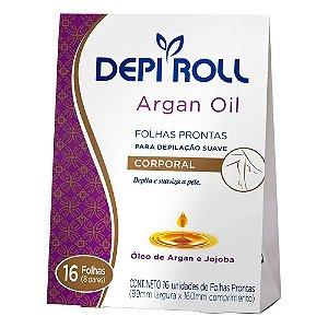Folha Depilatória Corporal Depi Roll Argan Oil 16 Unidades