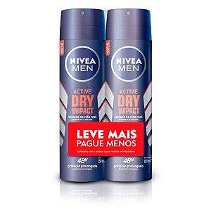 Kit Desodorante Aerosol Nivea Men Dry Impact 150ml 2 Unidades