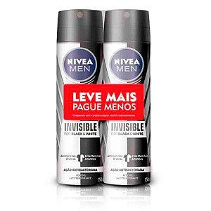Kit Desodorante Aerosol Nivea Men Invisible For Black & White 150ml 2 Unidades