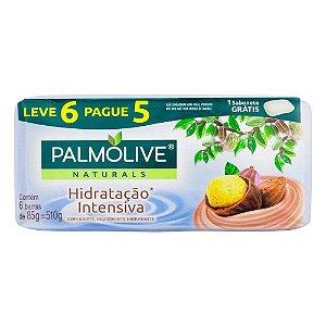 Kit Sabonete em Barra Palmolive Naturals Hidratação Intensiva 85g 6 Unidades