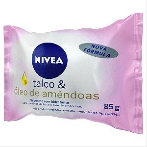 Sabonete em Barra Nivea Talco e Óleo de Amêndoas 85g