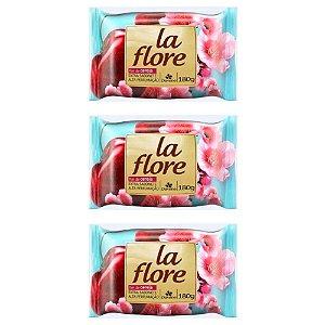 Kit Sabonete em Barra Davene La Flore Flor de Cereja 180g 3 Unidades