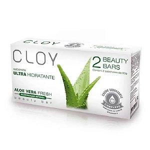 Sabonete em Barra Ultra Hidratante Cloy Aloe Vera 80g 2 Unidades