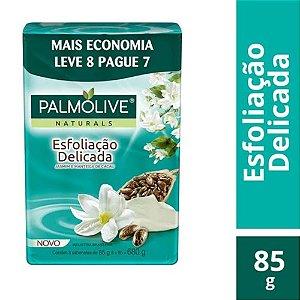 Sabonete em Barra Corporal Palmolive Naturals Esfoliação Delicada 85g 8 Unidades