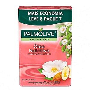 Kit Sabonete em Barra Palmolive Óleo Nutritivo 85g 8 Unidades