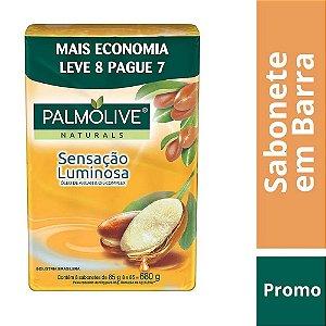 Kit Sabonete em Barra Palmolive Sensação Luminosa 85g 8 Unidades