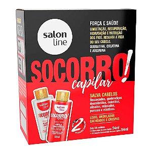 Kit Socorro Capilar Salon Line Óleocreme 54ml + Ampola 54ml
