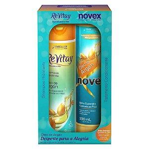 Kit Novex Argan Shampoo 300ml + Condicionador 300ml