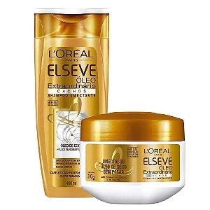 Kit Elseve Óleo Extraordinário Cachos Shampoo 400ml + Máscara de Tratamento 300g