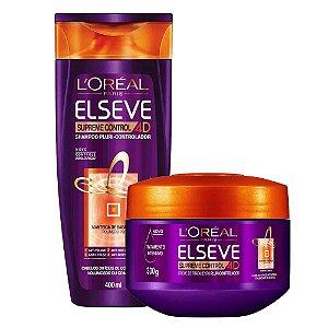 Kit Elseve Supreme Control 4D Shampoo 400ml + Creme de Tratamento 300g