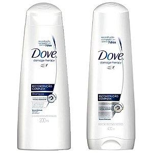 Kit Dove Reconstrução Completa Shampoo 400ml + Condicionador 400ml