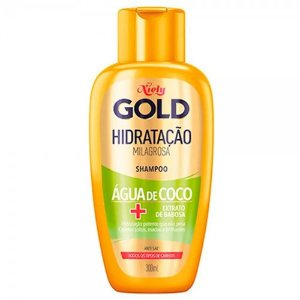 Shampoo Niely Gold Hidratação Água De Coco + Extrato De Babosa 300ml