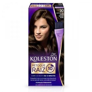 Retoque para Raiz Koleston Castanho Escuro Nº30