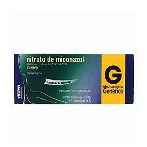 Nitrato de Miconazol Creme Vaginal 80g + 14 Aplicadores Teuto Genérico