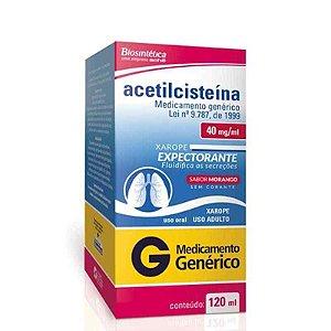 Acetilcisteína 40mg Xarope Adulto 120ml Aché Genérico