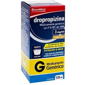 Dropropizina 3mg Xarope Adulto 120ml Aché Genérico
