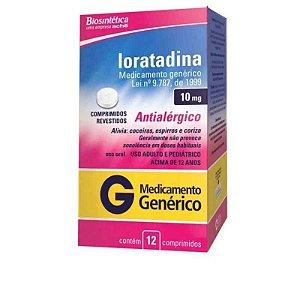 Loratadina 10mg 12 Comprimidos Revestidos Aché Genérico