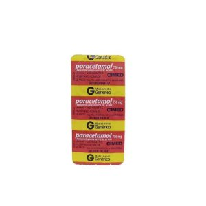 Paracetamol 750mg 10 Comprimidos Cimed Genérico