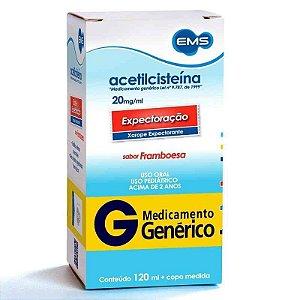 Acetilcisteína 20mg Xarope 120ml EMS Genérico