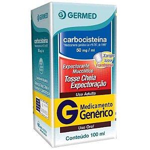 Carbocisteína Adulto 50mg Xarope 100ml Germed Genérico