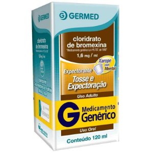 Cloridrato de Bromexina 1,6mg Xarope Adulto 120ml Germed Genérico