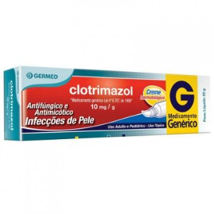 Clotrimazol 10mg Creme Dermatológico 20g Germed Genérico