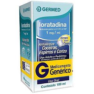 Loratadina 1mg Xarope 100ml Germed Genérico