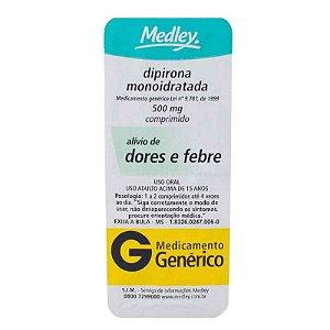 Dipirona 500mg 10 Comprimidos Medley Genérico