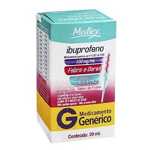 Ibuprofeno 100mg Gotas 20ml Medley Genérico
