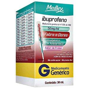 Ibuprofeno 50mg Suspensão Oral 30ml Medley Genérico