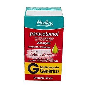 Paracetamol 200mg Gotas 15ml Medley Genérico
