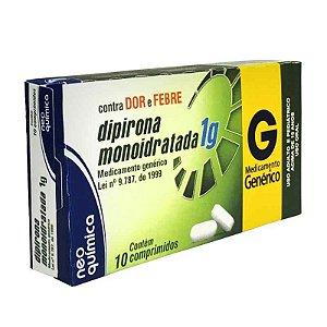 Dipirona Sódica 1g 10 Comprimidos Neo Química Genérico